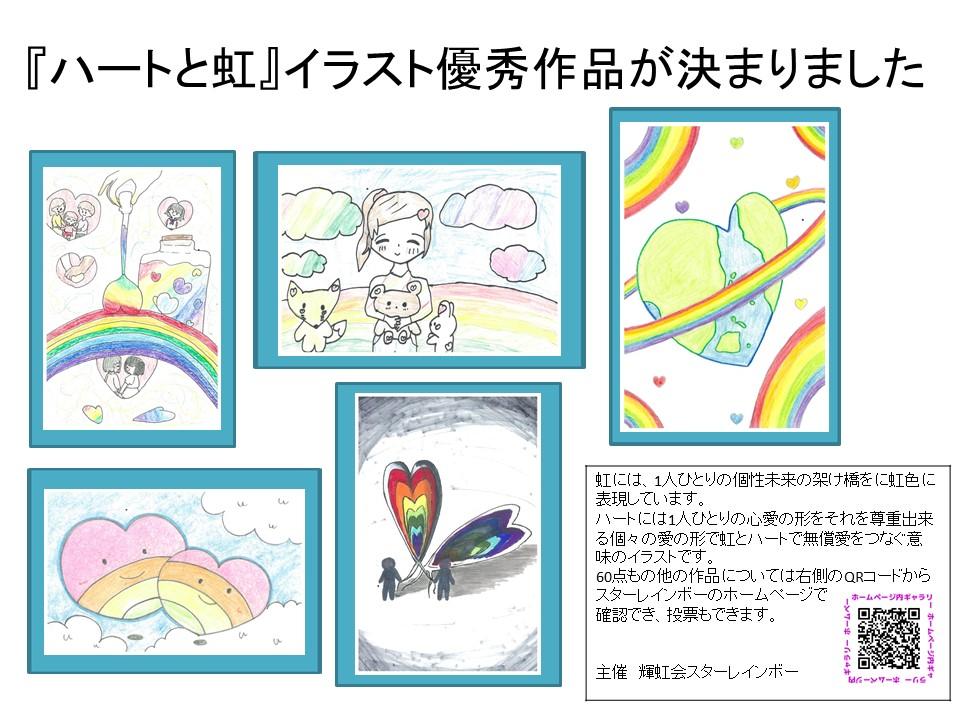 ハートと虹の優秀イラスト作品紹介