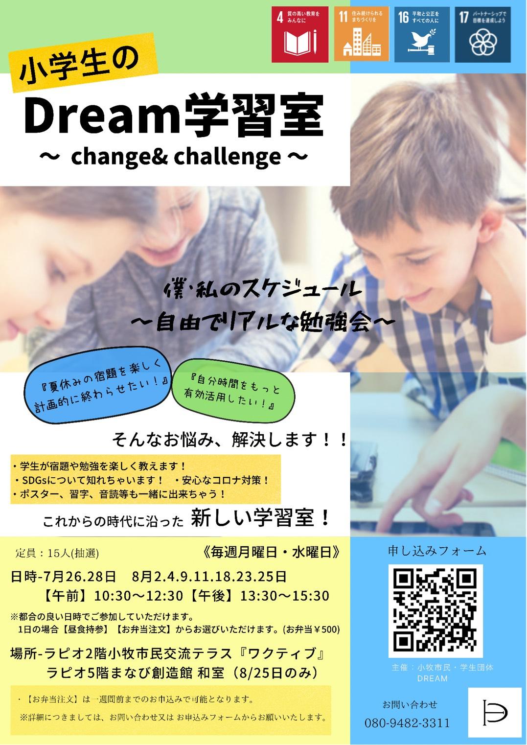Dream学習会参加者募集チラシ